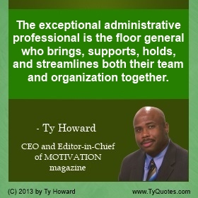 Motivational Speaker for Administrative Professionals I Ty Howard